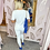 Thumbnail: PASSIONI White with Blue Print T.Shirt