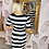 Thumbnail: LB Black & White Stripe Button Dress