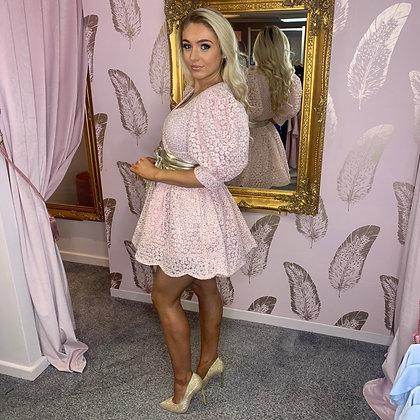 LB Pink Petal Wrap Dress
