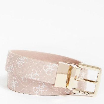 Guess Pink 4G Logo Reversible Belt