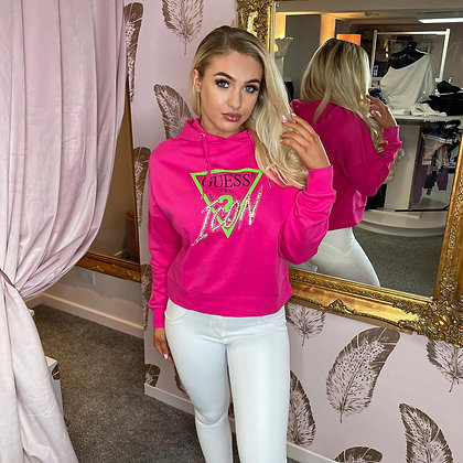 Guess Pink Icon Hoodie
