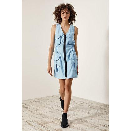 LB Blue Zip Dress