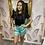 Thumbnail: LB Turquoise Shorts