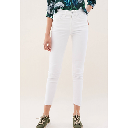 Salsa SECRET Push In Capri Jeans In White 121088
