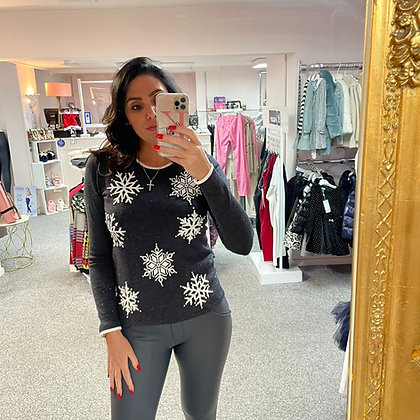 LEO Snowflake Sweater