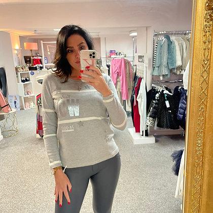 PASSIONI Grey Embellished Sweater