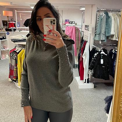PASSIONI Grey Embellished Jumper