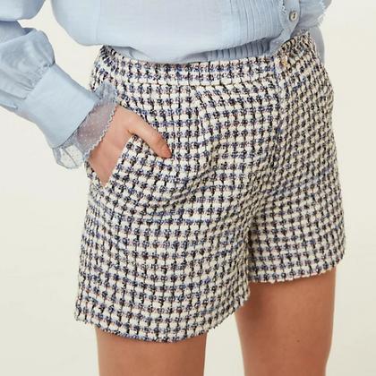 LB Blue Tweed Shorts