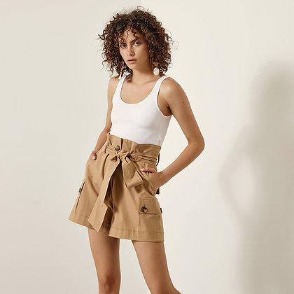 LB Tan Safari Style Shorts
