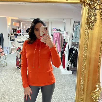 PASSIONI Orange Embellished Knit Sweater