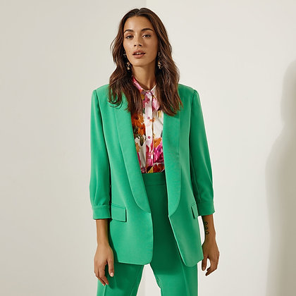 LB Green Long Blazer with 3/4 Arms