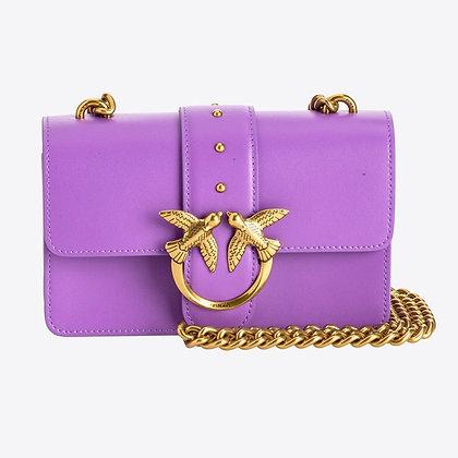 PINKO Lilac Blackberry Mini Love Bag Simply