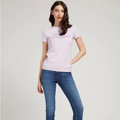 Guess Lilac Rhinestone T-shirt