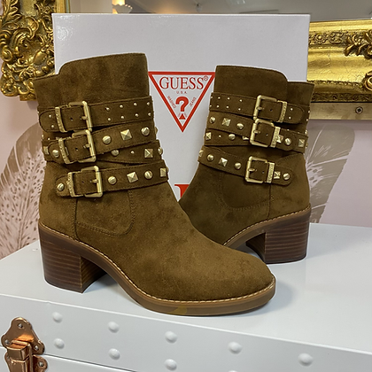 Guess Tan Suede Stud Boot