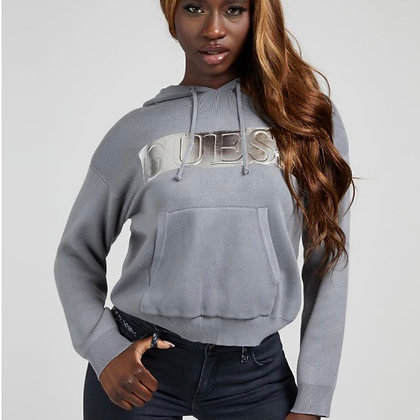 Guess Grey with Silver Knit Sweater