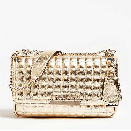 GUESS Gold Quilted Crossbody Bag