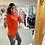 Thumbnail: PASSIONI Orange Embellished Knit Sweater