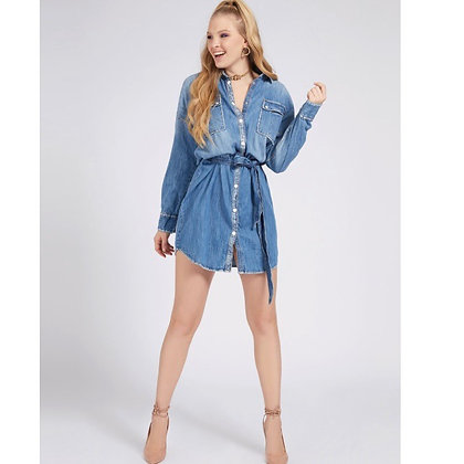 GUESS Relaxed Denim Fit Dress