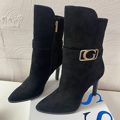 Guess Black Suede Heel Boot