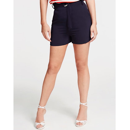 GUESS Navy Belted Shorts