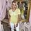 Thumbnail: LEO Lemon Pearl Bow Knit Tee