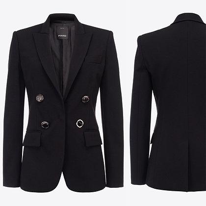 PINKO Black Jewel Button Blazer