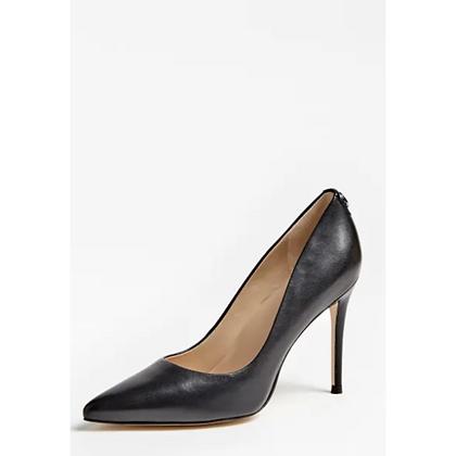 Guess Black Leather Court Shoe Belan