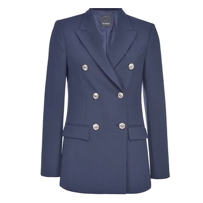 PINKO Navy Buttoned Blazer