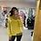 Thumbnail: PASSIONI Yellow Knit Roll Neck