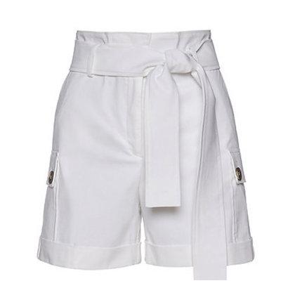 LB White Safari Style Shorts