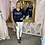 Thumbnail: GUESS Navy V Neck Embellished Sweater