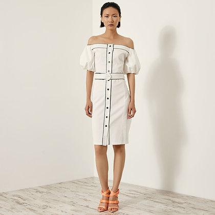 LB White Bardot Dress