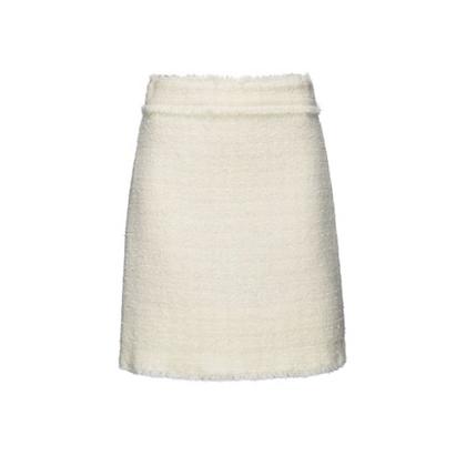 PINKO Cream Tweed Mini Skirt