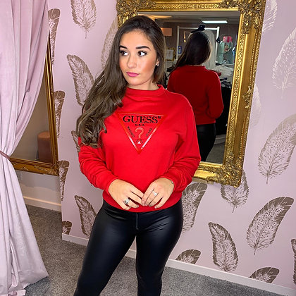 Guess Red Icon Sweater