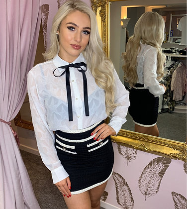 LB Ivory Star blouse