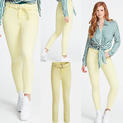 GUESS Yellow Belted Skinny Jean