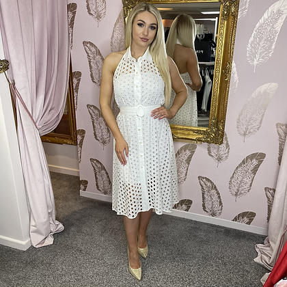 LB White Halterneck Dress