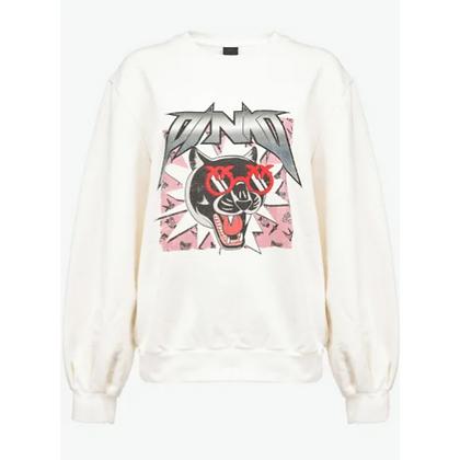 PINKO Funny Rock Print Sweatshirt
