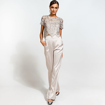 LB Silver High Waisted Trousers