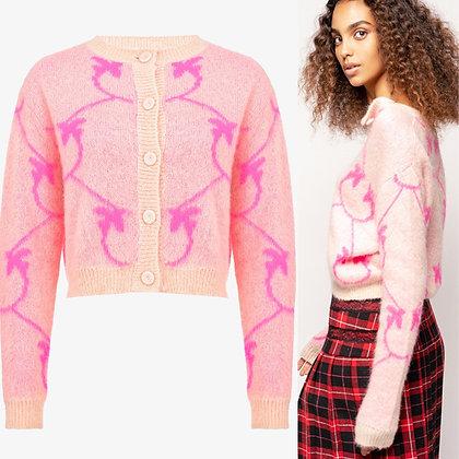 PINKO Pink Monogram Jacquard Sweater