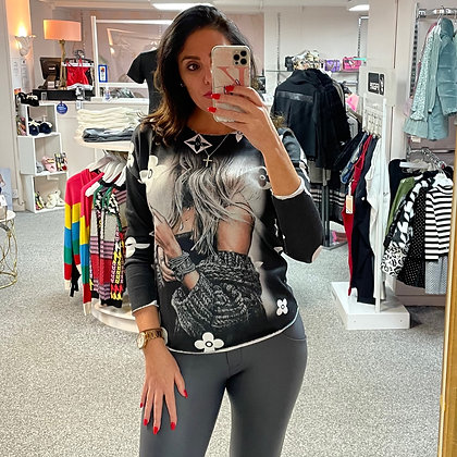 LB Charcoal Lady Sweater