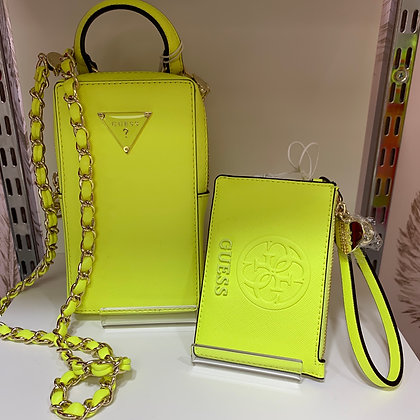 GUESS Neon Yellow Coin Purse