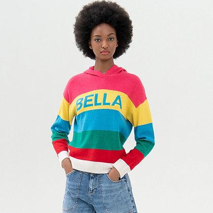 LB Multi Stripe BELLA Knit Hoody