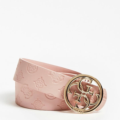 Guess Baby Pink Emilia 4G Logo Belt