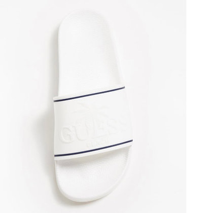 GUESS White/ Navy Slider