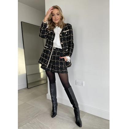 LB Black Tweed Shorts