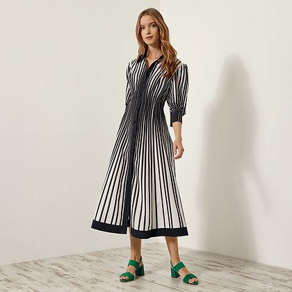 LB Striped Black & White Shirt Dress