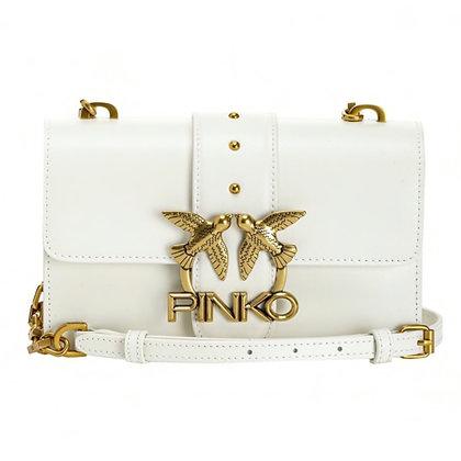 PINKO White Mini Love Bag