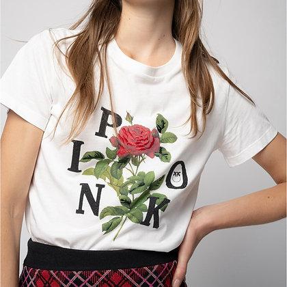 PINKO Rose Print T-shirt