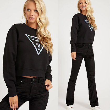 Guess Black Silver Triangle Sweater